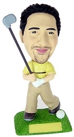 Golf custom bobble head doll